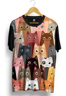 Camiseta Bsc Cat Love Full Print - Masculino