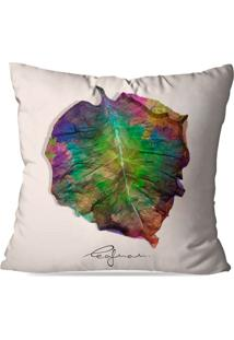 Capa De Almofada Avulsa Decorativa Inkolloures All Leafman 35X35Cm - Multicolorido - Dafiti