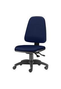 Cadeira Sky Presidente Com Bracos Assento Crepe Azul Escuro Base Nylon Arcada - 54805 Azul