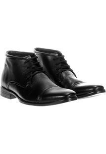 Sapato Social Democrata Paladium Cano Médio - Masculino-Preto