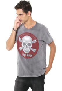 Camiseta John John Red Skull Cinza