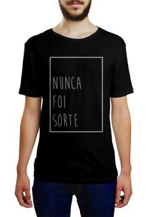 Camiseta Hunter Nunca Foi Sorte Preta