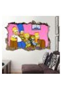 Adesivo Buraco Na Parede Os Simpsons - M 60X93Cm