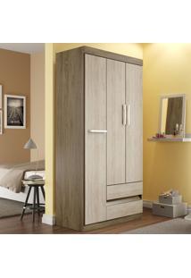 Guarda-Roupa 3 Portas 2 Gavetas Rp8032 Wood/Malbec - Decibal Móveis