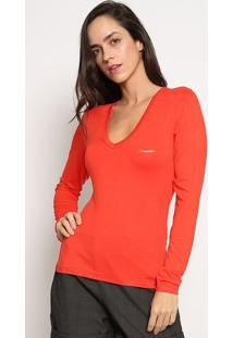 Blusa Com Tag- Laranja Neon- Sommersommer