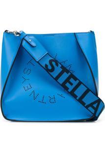 Stella Mccartney Bolsa Tiracolo Stella Pequena Com Logo - Azul
