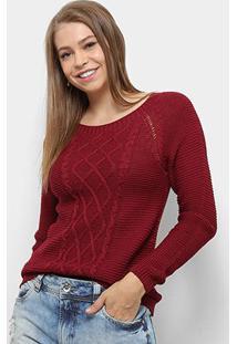 Suéter Fast Glam Tricot Feminino - Feminino-Vinho