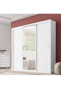 Guarda Roupa Casal Com Espelho 3 Portas Residence Demóbile Branco