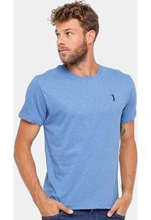 Camiseta Aleatory Básica Mesclada Masculina - Masculino
