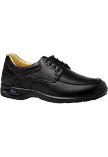 Sapato Casual Couro Floater 1855 Doctor Shoes Masculino - Masculino-Preto