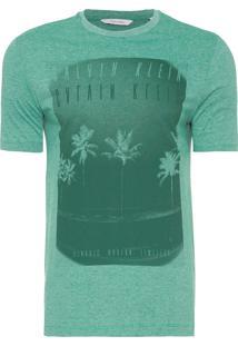 Camiseta Masculina Regular Summer - Verde