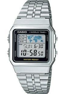 Relogio Casio - A500Wa-1Df - Feminino-Prata