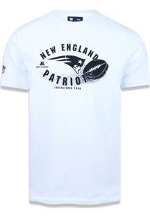 Camiseta New Era Regular New England Patriots Branco