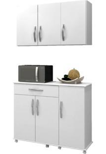 Cozinha Conjugada 2 Peças Parati Arte Móveis Branco