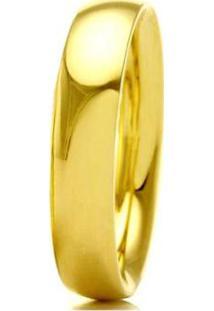 Aliança De Casamento Masculina Em Ouro 18K 5Mm Anatômica Wm Jóias - Masculino-Dourado