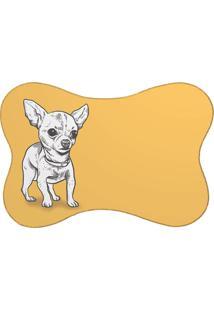 Tapete Pet Pinscher Amarelo 46X33Cm