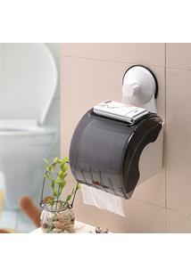Suporte Impermeável De Papel Higiênico Para Banheiros Com Ventosa De Sucção