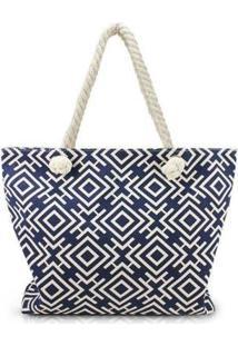 Bolsa Jacki Design De Praia - Unissex-Azul Petróleo
