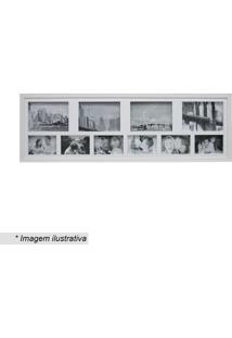 Painel Para 10 Fotos- Incolor & Branco- 30X100Cmkapos