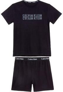 Pijama Masculino Calvin Klein Curto Viscolycra