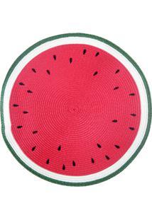 Jogo Americano Redondo Frutas Melancia 38Cm