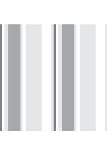 Papel De Parede Adesivo Listrado Bege E Branco
