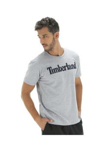 Camiseta Timberland Ss Kennebec Linear Logo - Masculina - Cinza
