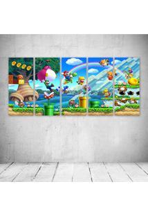Quadro Decorativo - Super Mario Odyssey E - Composto De 5 Quadros - Multicolorido - Dafiti