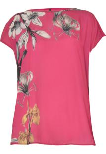 Blusa Cativa Plus Floral Pink