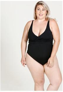 Maiô Feminino Decote Transpassado Plus Size Marisa