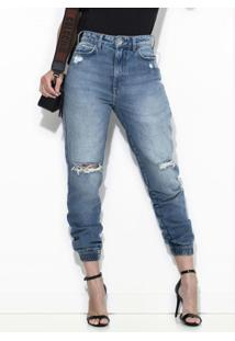 Calça Jeans Destroyed Bruna Azul