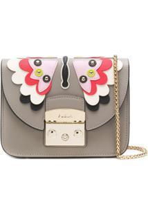 Furla Bolsa Transversal Mini 'Metropolis Papillon' - Cinza