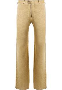 Calça Masculina Formal Linho - Bege