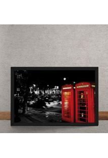 Quadro Decorativo Cabines Telefones Vermelhas Londres 25X35