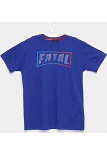 Camiseta Fatal Logo Ice Plus Size Masculina - Masculino-Azul
