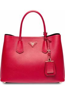 Prada Double Tote Bag - Vermelho
