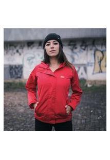 Jaqueta Anjuss Corta Vento Vermelho