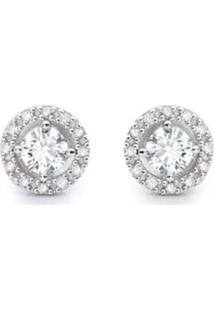 ... Brinco Solitário Ouro Branco E 49,6 Pontos De Diamantes 076a37f1d0