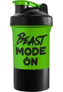 Coqueteleira 2 Doses Beast Mode On 600Ml - Powerfoods - Unissex