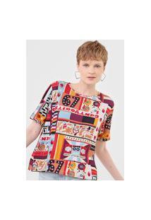 Camiseta Cantão Aparelhagem Bege/Caramelo