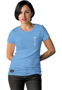 Camiseta Cellos Vertical Premium Feminina - Feminino-Azul Claro