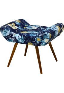 Puff Decorativo Lyam Decor Alice Azul Estampado