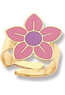 Anel Le Diamond Infantil Flora Rosa - Kanui