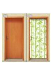 Adesivo Decorativo De Porta - Bambu - 1665Cnpt