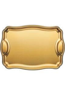 Bandeja Tramontina Design Collection Doratta 61663490 Em Aço Inox - Dourada