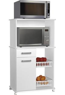 Armário Multiuso Zanzini Premium 1 Porta 1 Gaveta 2 Fruteiras Branco