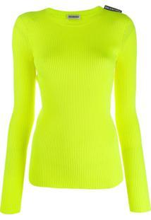 Balenciaga Blusa Com Logo - Amarelo