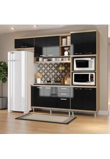 Cozinha Compacta 4 Peças 5828-S14 - Sicília - Multimóveis - Argila / Preto