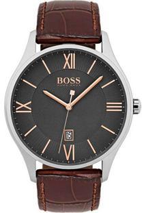 Relógio Hugo Boss Masculino Couro Marrom - 1513484