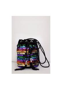 Bolsa Joulik Bordada Rainbow - Colorida